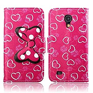Love Pattern PU Leather Case for Galaxy S4 MINI I9190