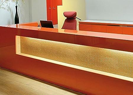 Revestimiento mural de lujo Estilo cuero Piel del reptil WallFace 17016 PEARL RAY Panel autoadhesivo dorado 2,60 m2: Amazon.es: Bricolaje y herramientas