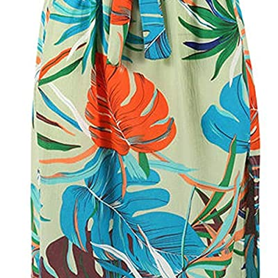 Aniywn Women Print Boho Long Maxi Dress Summer Sleeveless Halter Party Beach Floral Dress: Clothing