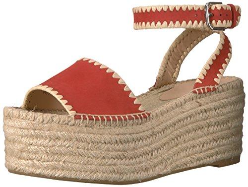 Per La Vittoria Womens Ria Espadrille Wedge Sandal Poppy