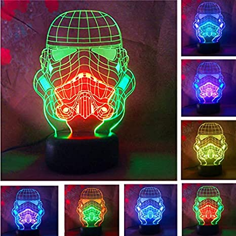 3d Led Lámpara De Ilusión Óptica Star Wars Warrior Soldier Héroe ...