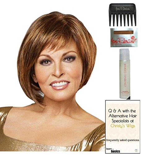 Bewitched Wig by Raquel Welch, 15 Page Christy's Wigs Q & A Booklet, 2oz Travel Size Wig Shampoo, Wig Cap & Wide Tooth Comb COLOR SELECTED: SS8/25 by Raquel Welch & Christy's Wigs