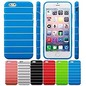 SOL Stripe Pattern TPU Cover for iPhone 6 (Assorted Colors) , Green