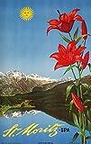 St Moritz - Spa Vintage Poster (artist: Steiner) Switzerland c. 1942 (12x18 Art Print, Wall Decor Travel Poster)
