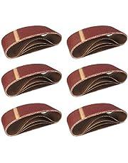Geweven schuurbanden │ 10 stuks │ 75 x 457 mm │ korrel 80 │ voor bandschuurmachines │ schuurpapier │ schuurbladen