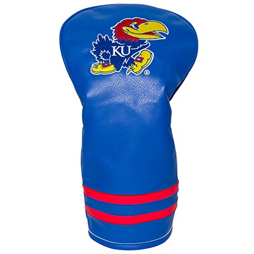 Team Golf NCAA Kansas Jayhawks Vintage Driver Golf Club Headcover, Form Fitting Design, Retro Design & Superb Embroidery