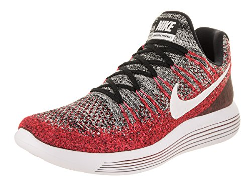 Nike Heren Lunarepic Laag Flyknit 2 Loopschoen Zwart / Wit / Hyper Punch