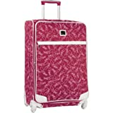 Diane Von Furstenberg Luggage Color On The Go 28 Inch Custom Expandable Spinner, Fuschia/White, One Size, Bags Central