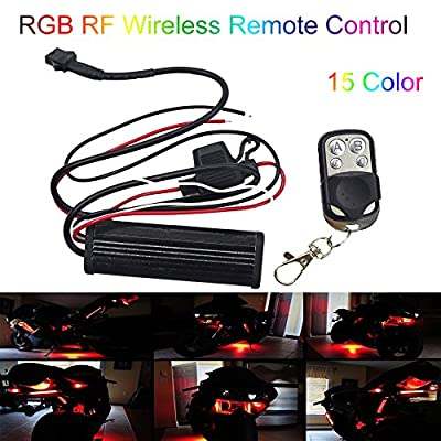 Kingshowstar 4 Key Led RGB Controller for led Motorcycle car Strip pod Light: Automotive