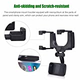 Efanr Car Rearview Mirror Mount, Cell Phone Holder