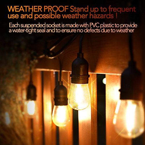 LED-String-Lights-String-Lights-15-Sockets-48-Ft-LED-String-Lights-Outdoor-with-15-Filament-LED-Bulbs-Weatherproof-Festival-Lights-for-Home-Commercial-Use-Warm-String-Light-Easy-to-Install