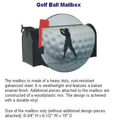 Golf Ball Mailbox by More than a Mailbox