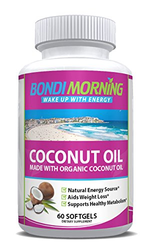 Bondi Morning Organic Coconut Oil Softgels 1000mg - 100% Ext