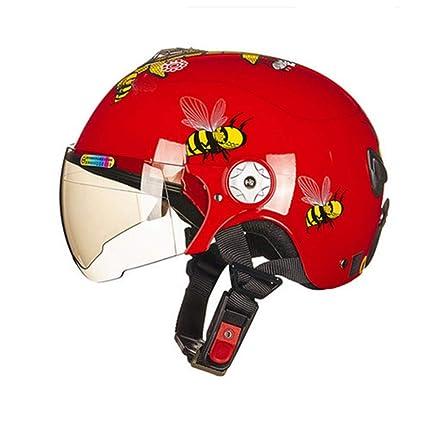 Casco Infantil Casco De Dibujos Animados Bicicleta Ultraligera Motocicleta Luz Cara Abierta Casco Carreras Cascos Antiguos