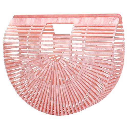 Tortoise Bag - Summer Beach Bag for Women Women Ark Acrylic Clutch Handbag Large Tote Bag Beach Bag (Pink)