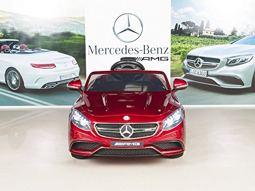 51PRv9dKmjL - BIG TOYS DIRECT Mercedes-Benz S63 Ride on Car Kids RC Car Remote Control Electric Power Wheels W/ Radio & MP3 Red