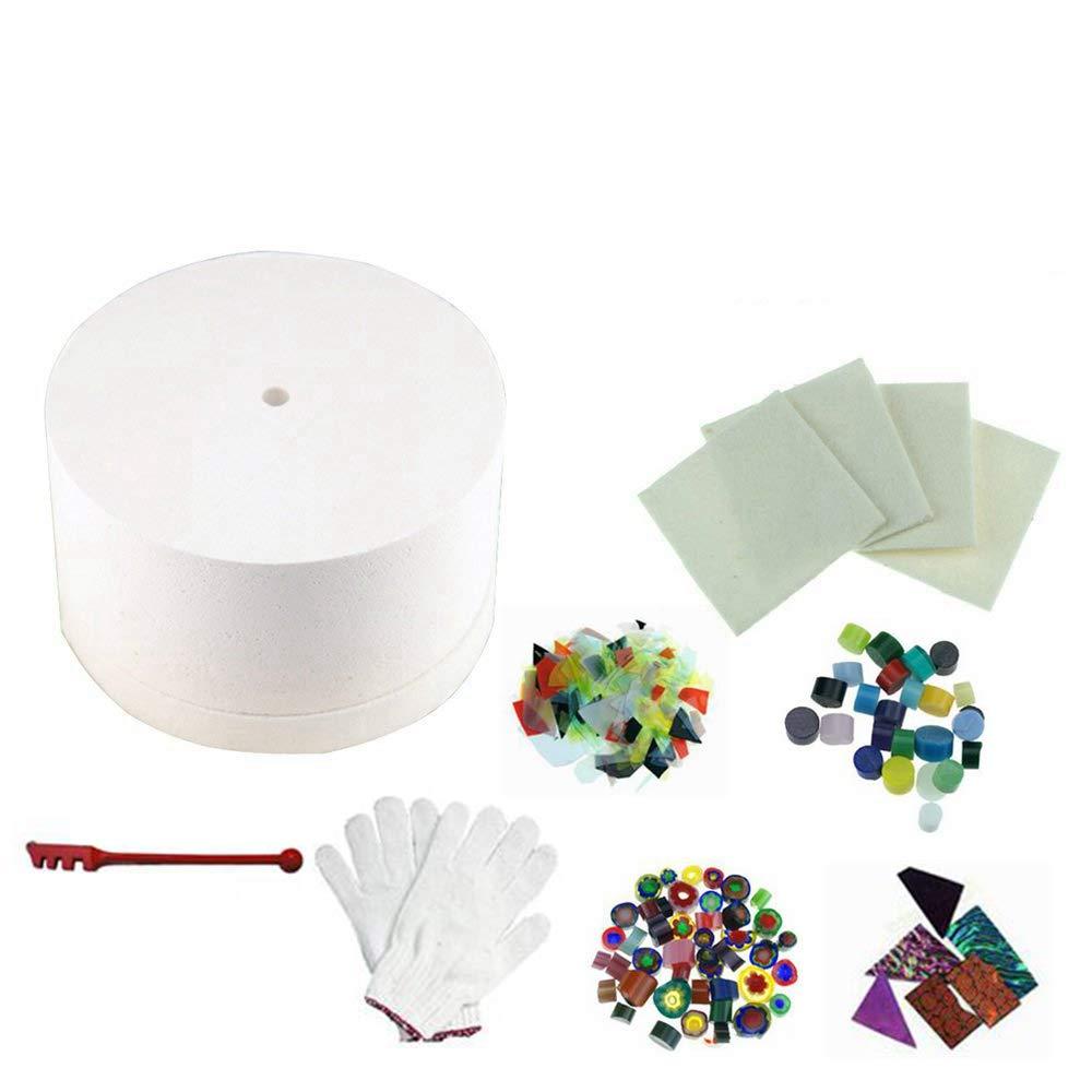 8pcs Set of Large Microwave Kiln Kit For Glass Fusing In Microwave Kiln by Glass Kiln (Image #1)
