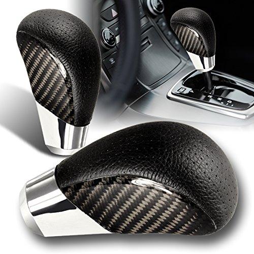 - Universal Real Carbon Fiber PVC Leather VIP Manual MT Gear Shift Shifter Knob
