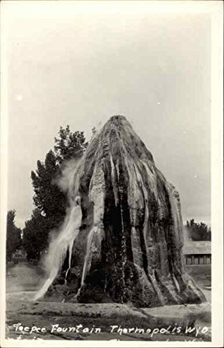Postcard Teepee (Teepee Fountain Thermopolis, Wyoming Original Vintage Postcard)
