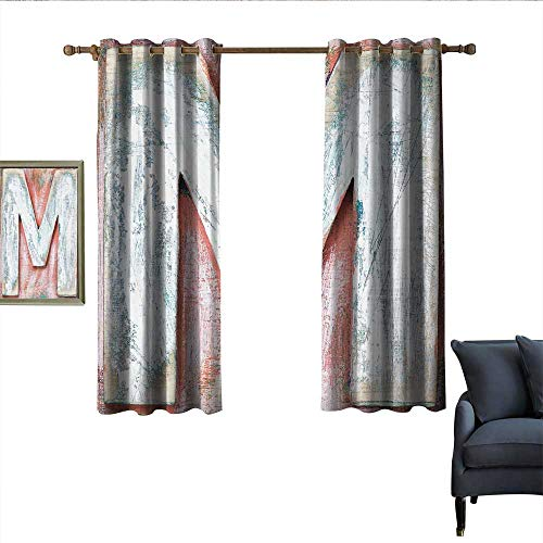 longbuyer Letter M Decor Curtains Old Wood Capital Letter M Natural Worn Out Look Texture Language Image Home Garden Bedroom Outdoor Indoor Wall Decorations 55