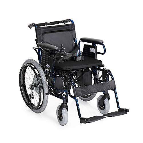 QL Electric Wheelchair Small Wheel Aluminum Alloy Lightweight Folding Disassembly Handrail Old Disabled Scooter - Black Wheelchair