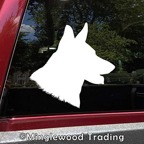 - Minglewood Trading White - Set of 2 German Shepherd Head 3