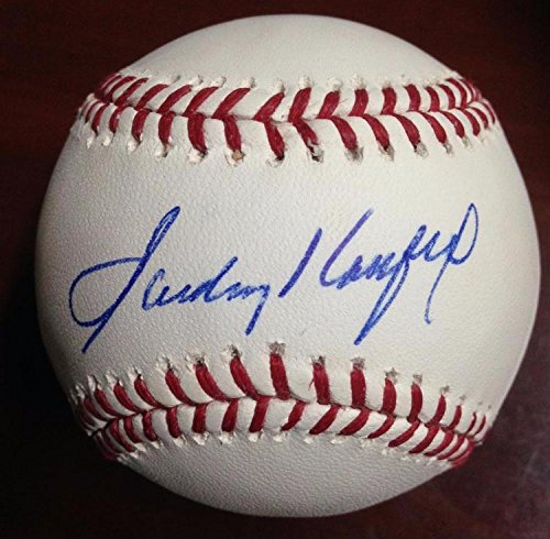 Sandy Koufax Autographed ROMLB Baseball Absolutely Beautiful Autograph
