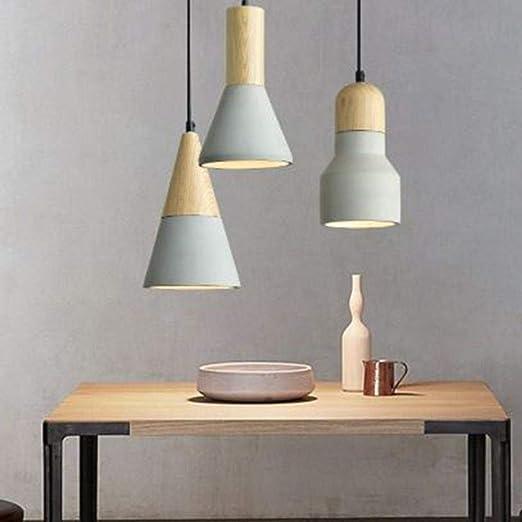 Lámpara Colgante Lámpara De Cemento Creativa Bar De Comedor ...
