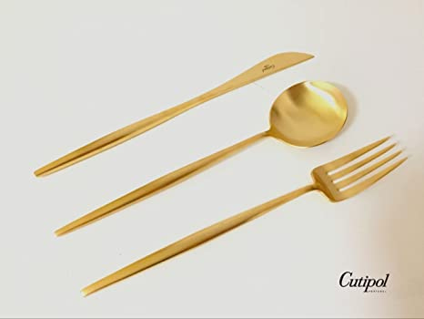 Amazon.com: cutipol Luna mate oro Series Home Dinner ...