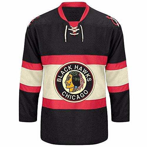 20 Premier Throwback Jersey - Reebok Chicago Blackhawks CCM NHL Vintage Premier Black Jersey - XX-Large