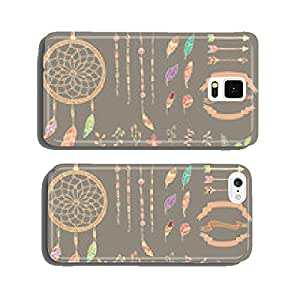 Hand drawn native american feathers, dream catcher, flowers cell phone cover case iPhone6 Plus