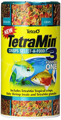 Tetra TetraMin Crisps Select-A-Food, 3 Foods In 1, 2.4 Ounce
