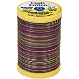 Coats Thread & Zippers Coats Cotton Machine Over the Rainbow Quilting Thread, 225 yd, Multicolor