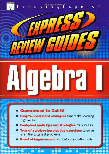 Read Online Express Review Guide: Algebra I pdf