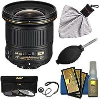 Nikon 20mm f/1.8G AF-S ED Nikkor Lens with 3 UV/CPL/ND8 Filters + Nikon Cleaning Kit for D3200, D3300, D5300, D5500, D7100, D7200, D750, D810 Cameras