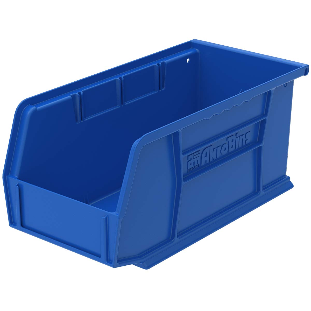 Akro-Mils 30230 Plastic Storage Stacking Hanging Akro Bin, 11-Inch by 5-Inch by 5-Inch, Blue, Case of 12 by Akro-Mils