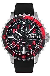 Fortis 671.23.43 K Mens Marinemaster Chronograph Chronograph Black Dial Automatic Watch