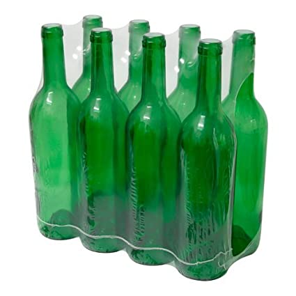 8 x 0,75 ml botella de vidrio (Burdeos para vino hacer cerveza casera