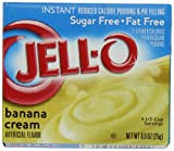 Jell-O Sugar-Free Instant Pudding & Pie Filling, Banana Cream, 0.9-Ounce Boxes (Pack of 24)