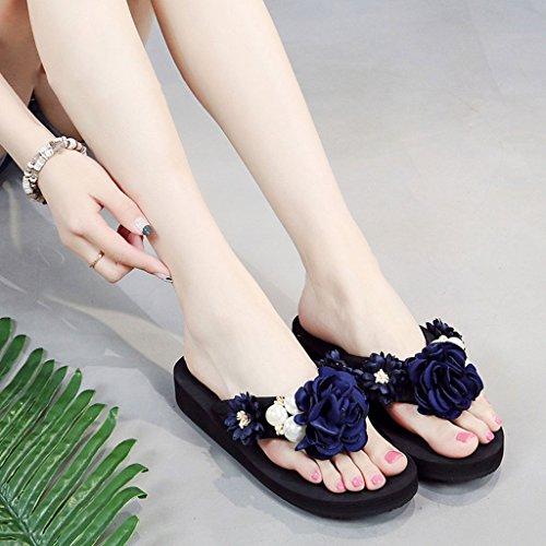 pendenti morbide Donna Sandali Flip Size Pantofole Sandali con 3cm e CKH 40 Flop Summer Fashion Sandali infradito coppe nOEvx