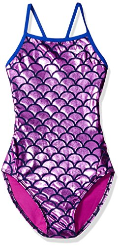 The Finals Youth Women's Mermaid Foil Wing Back Swimsuits