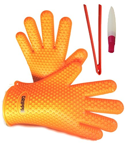 bbq-grilling-oven-silicone-heat-resistant-cooking-gloves-with-free-tongs-and-basting-brush-by-grippi