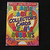 RARE SET--SPECIAL LIMITED EDITION BEANIE BABIES COLLECTOR'S CARDS [ DIE CUT BEANIE BUDDIES ] FOR GOLD CHARTER AND PLATINUM MEMBERS ONLY 1999