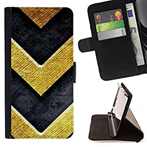 DEVIL CASE - FOR Samsung Galaxy S3 Mini I8190Samsung Galaxy S3 Mini I8190 - Chevron Gold Bling Brushed Metal Texture - Style PU Leather Case Wallet Flip Stand Flap Closure Cover