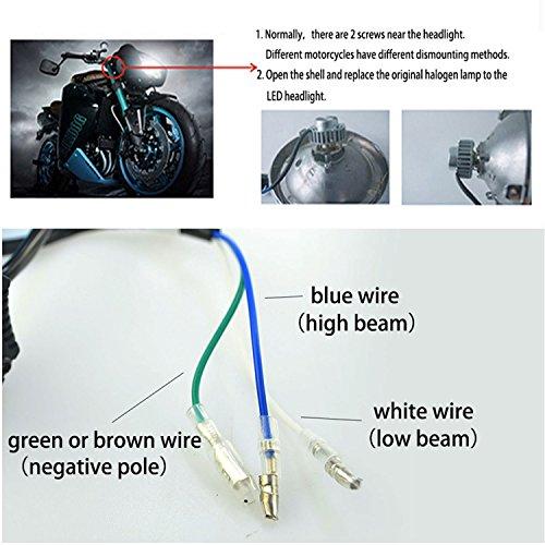 FEZZ Motorcycle LED Headlight Bulb 40W H4 H6 S2 BA20D P15D25 ... on