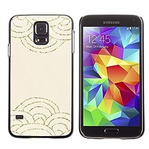 Paccase / SLIM PC / Aliminium Casa Carcasa Funda Case Cover para - Scaled Pattern Gold Glitter Beige Waves - Samsung Galaxy S5 SM-G900