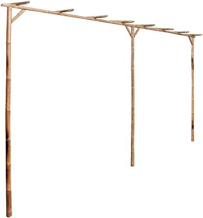vidaXL Pérgola para Jardín de Madera de Bambú Marrón 195x195x195 cm Cenador: Amazon.es: Jardín