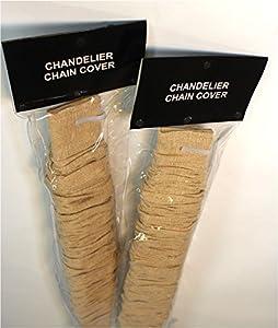 Amazon.com: Linen Chandelier Lamp Chain w Velcro Cord Cover ...
