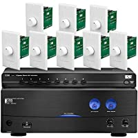 OSD Audio Multi-Room Audio System Package 350W A/B Two-channel Dual Source Amplifier, Speaker Selector, 100W Impedance Matching Rotary Knob Volume Control 8-Zone Kit