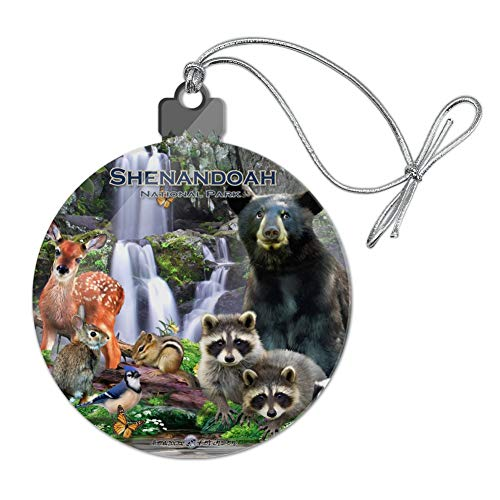 GRAPHICS & MORE Shenandoah National Park Virginia VA Animals Bear Raccoons Deer Skunk Fox Acrylic Christmas Tree Holiday Ornament